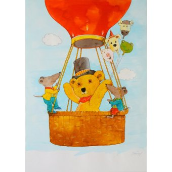 quadros infantis - Quadro -In the Balloon- - Kaempf, Christian
