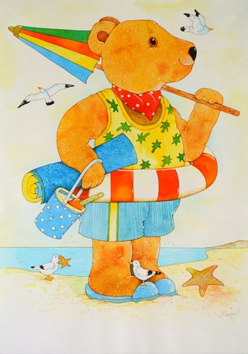 quadros-infantis - Quadro -At the Beach. Summer- - Kaempf, Christian