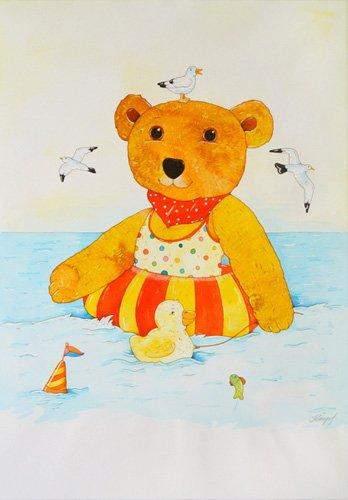 quadros-infantis - Quadro -Swimming in the Sea- - Kaempf, Christian