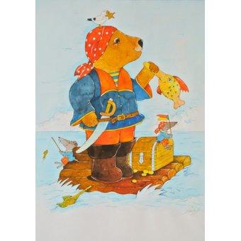 quadros infantis - Quadro -Pirate- - Kaempf, Christian
