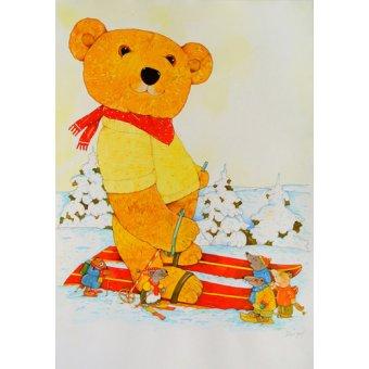 quadros infantis - Quadro -Winter. Skiing- - Kaempf, Christian