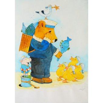 quadros infantis - Quadro -Fisherman- - Kaempf, Christian