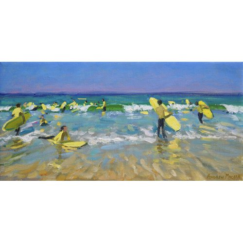 Quadro - Surf School at St. Ives (oil on canvas) -