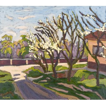 - Quadro - In Spring Light, 2008 (oil on board) - - Martonfi-Benke, Marta