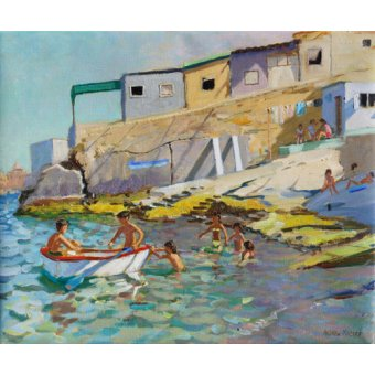 quadros de paisagens marinhas - Quadro -The rowing boat,Valetta,Malta,2015- - Macara, Andrew