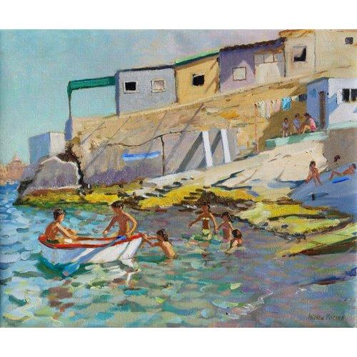 Quadro -The rowing boat,Valetta,Malta,2015-