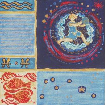 quadros étnicos e orientais - Quadro -Aquarius- - Manek, Sabira