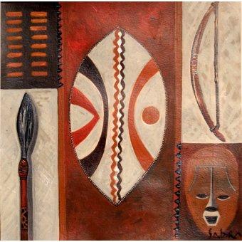 quadros étnicos e orientais - Quadro -Tulivu, 2007- - Manek, Sabira