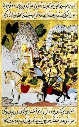 ethnic and oriental paintings - Picture -Miniatura de la copia original del Siyer-i-Nabi/1594-95- - _Anónimo Islámico
