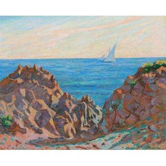 quadros de paisagens marinhas - Quadro -Agay- - Guillaumin, Armand
