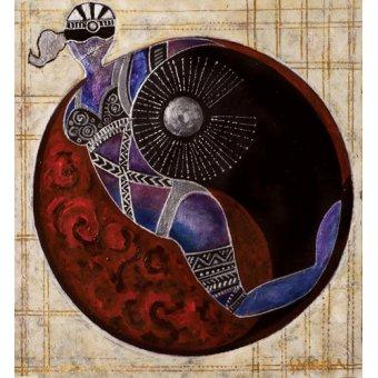 quadros étnicos e orientais - Quadro -Aries-Libra, 2009- - Manek, Sabira