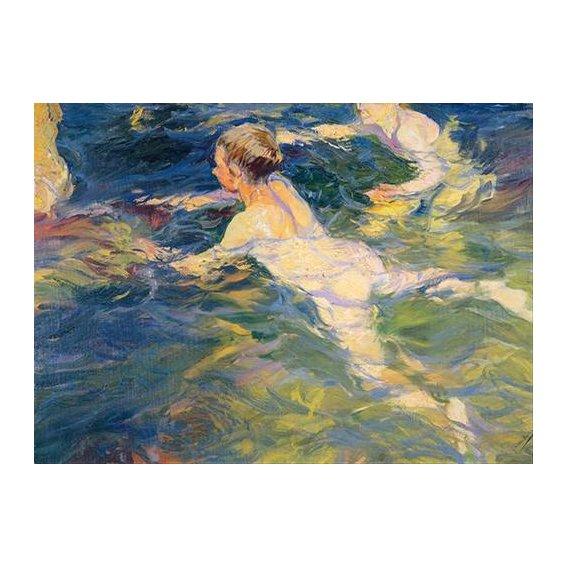pinturas do retrato - Quadro -Nadadores en Javea-