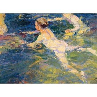 - Quadro -Nadadores en Javea- - Sorolla, Joaquin