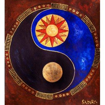 quadros étnicos e orientais - Quadro -Sun-Moon, 2009- - Manek, Sabira
