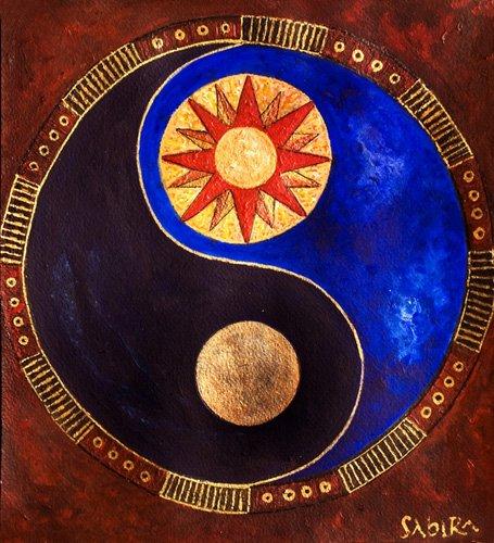 quadros-etnicos-e-orientais - Quadro -Sun-Moon, 2009- - Manek, Sabira