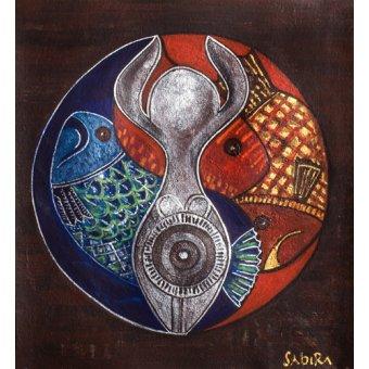 quadros étnicos e orientais - Quadro -Virgo-Pisces, 2009- - Manek, Sabira