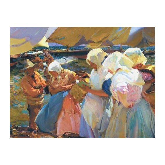 cuadros de retrato - Cuadro -Valencianas en la playa-
