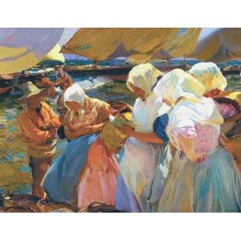 cuadros de marinas - Cuadro -Valencianas en la playa- - Sorolla, Joaquin