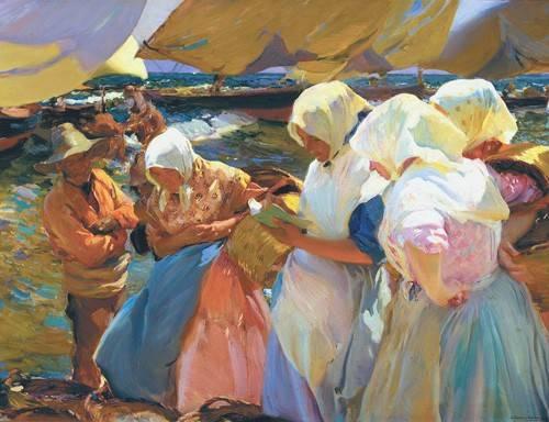 cuadros de retrato - Cuadro -Valencianas en la playa- - Sorolla, Joaquin