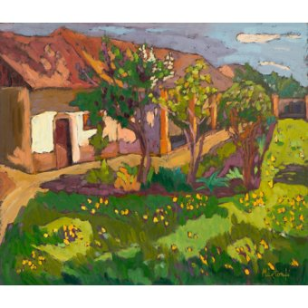 - Quadro -Garden in May, 2012 (oil on board)- - Martonfi-Benke, Marta