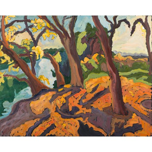 Quadro -Ageing trees, 2009 (oil on board)-
