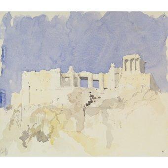 Quadros abstratos - Quadro -Acropolis, Athens, 1994 (w.c on paper)- - Millar, Charlie