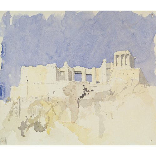 Quadro -Acropolis, Athens, 1994 (w.c on paper)-