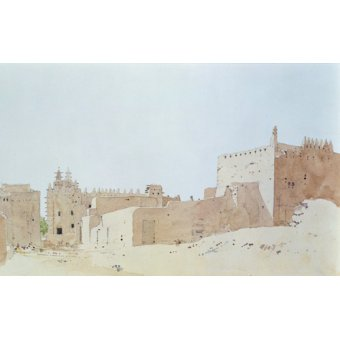 - Quadro -Djenne (Mali) Grande Mosquee, Monday, 2000 (w.c on paper)- - Millar, Charlie