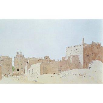 Quadros abstratos - Quadro -Djenne (Mali) Grande Mosquee, Monday, 2000 (w.c on paper)- - Millar, Charlie