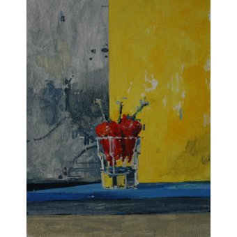 Quadros abstratos - Quadro -Chillies in a Glass- - Millar, Charlie