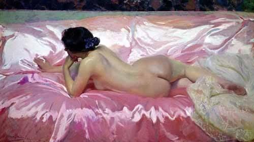 cuadros de retrato - Cuadro -Desnudo femenino- - Sorolla, Joaquin