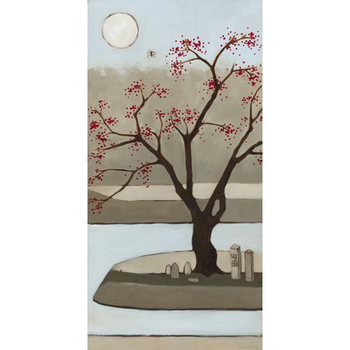 Quadro  - Cherry Tree, Winter, 2013, (oil on wood panel) -