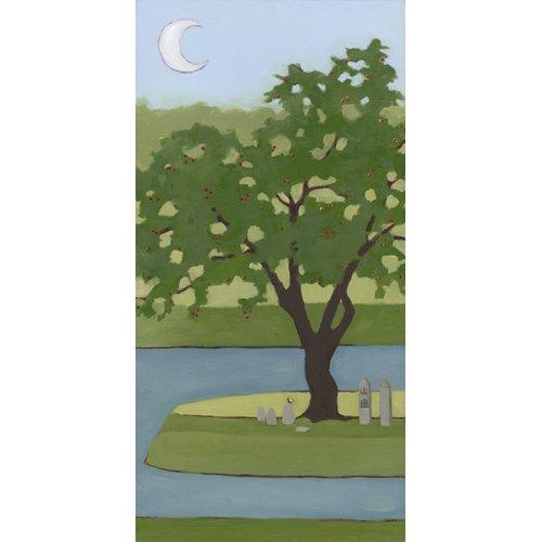 Quadro  - Cherry Tree, Summer, 2013, (oil on wood panel) -