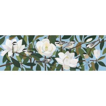 quadros de flores - Quadro  - Chickadees & Azure-Winged Magpie- - Moore, Megan