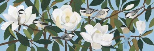 quadros-de-paisagens - Quadro  - Chickadees & Azure-Winged Magpie- - Moore, Megan