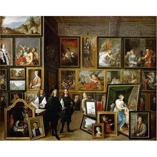 Quadro -Visita del Archiduque Leopoldo Guillermo al taller de Teniers-