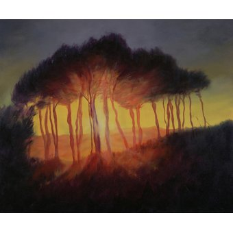 quadros de paisagens - Quadro -Wild Trees at Sunset, 2002 (oil on canvas)- - Myatt, Antonia