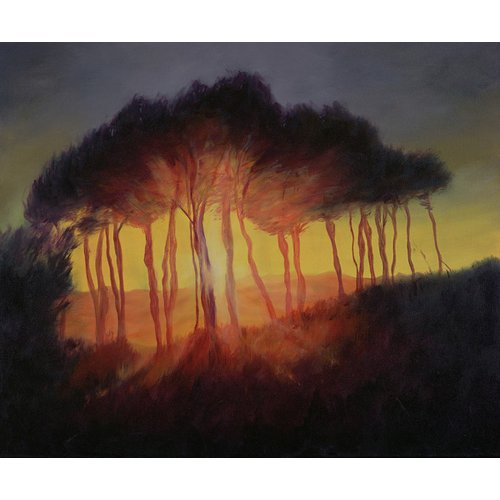 Quadro -Wild Trees at Sunset, 2002 (oil on canvas)-