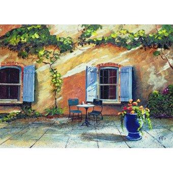 - Quadro -Shuttered Windows, Provence, France, 1999 (oil on board) - - Neal, Trevor
