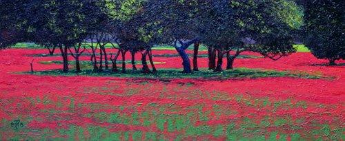 quadros-de-paisagens - Quadro -Red Shock, 1999- - Neal, Trevor