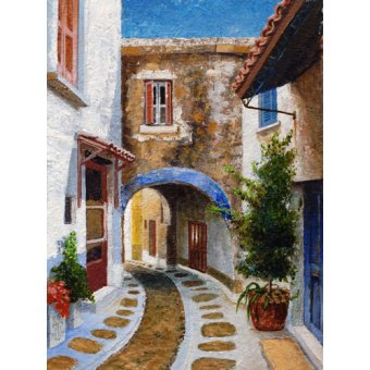 - Quadro -Lefkimi, Corfu, 2006 (oil on board)- - Neal, Trevor
