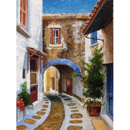 Quadro -Lefkimi, Corfu, 2006 (oil on board)-