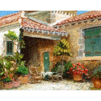 - Quadro -Provence Barn, 2006 (oil on board)- - Neal, Trevor