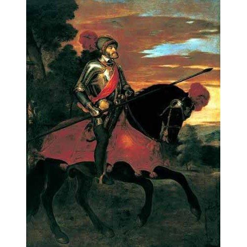Quadro -Retrato ecuestre de Carlos V en Mühlberg-