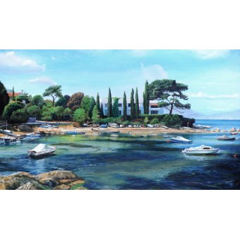 - Quadro -Villa and Boats, South of France - - Neal, Trevor