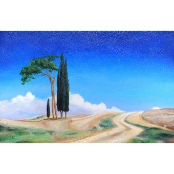 - Quadro -4 Trees, Picenza, Tuscany, 2002- - Neal, Trevor