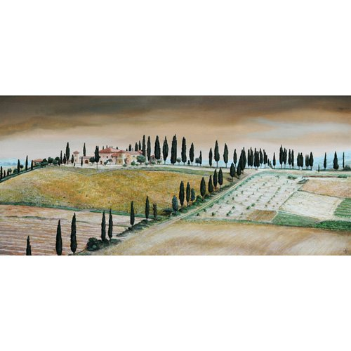 Quadro -Villa on Hill, Tuscany, 2001-