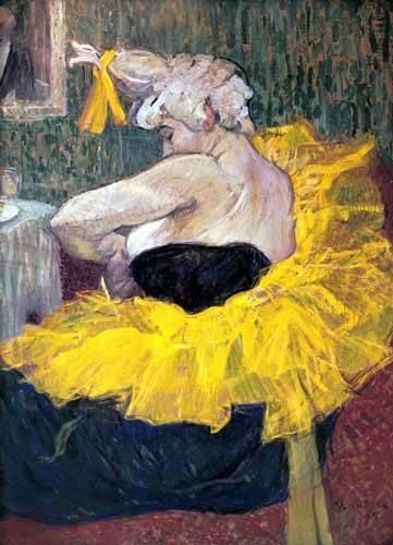 cuadros de retrato - Cuadro -La payasa Cha-u-Kao- - Toulouse-Lautrec, Henri de