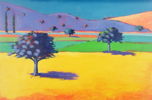 quadros-de-paisagens - Quadro - Castlemorton (acrylic on card) - - Powis, Paul