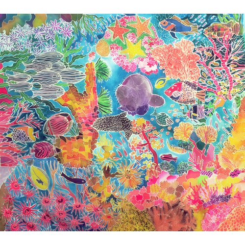 Quadro - Tropical Coral, 1993 (coloured ink on silk) -